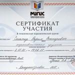 Сертификат прохождение терапевтической группы Владимира Промысловского. Днепропетровск
